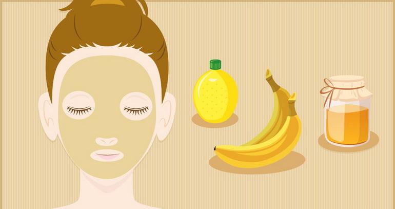 маски для лица из бананов