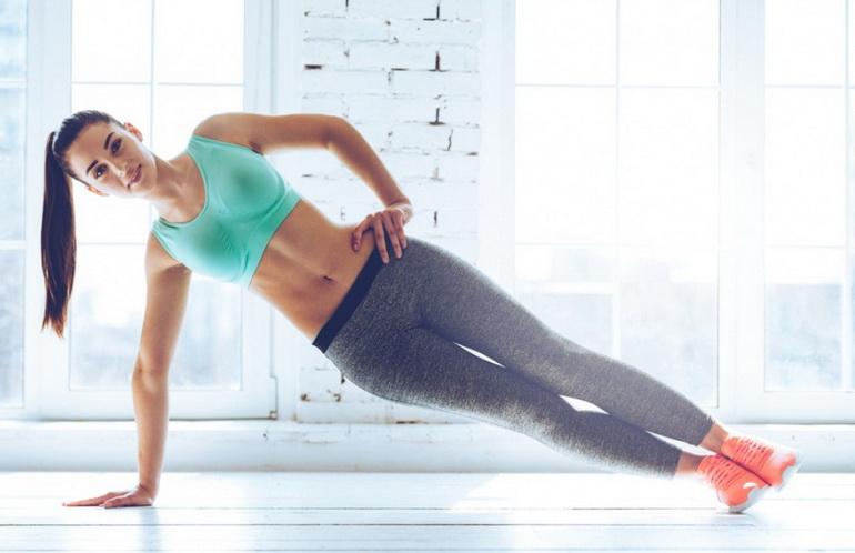 Смотреть онлайн упражнения для похудения живота и боков