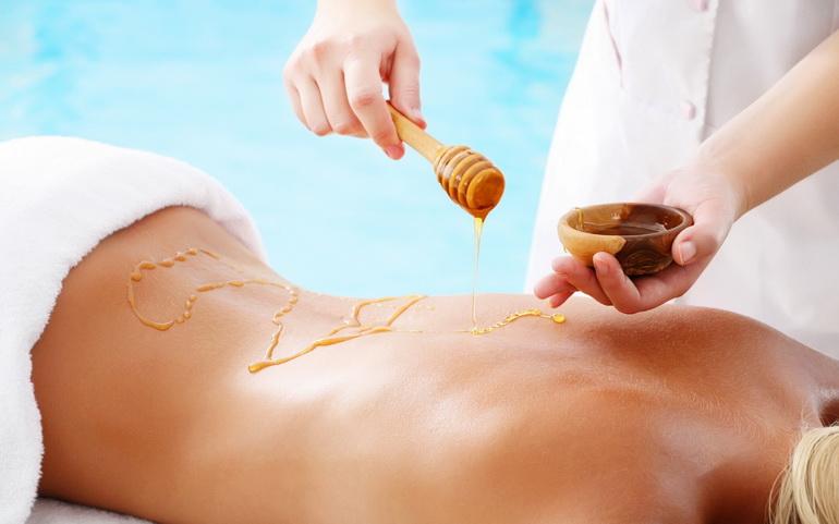 медовый массаж для похудения живота и боков