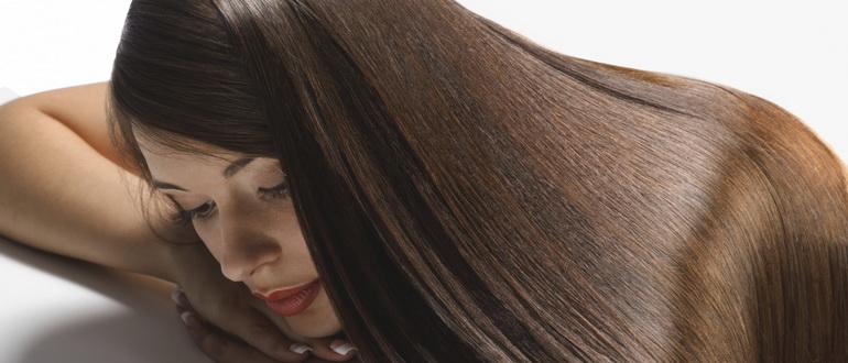 толстые и густые волосы у девушки