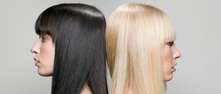 девушка осветлила волосы дома