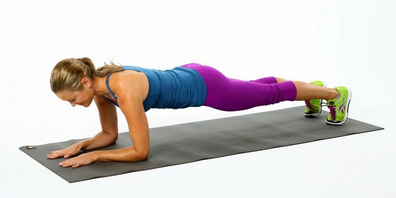 упражнение Планка для сжигания жира