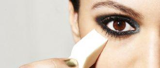 Девушка сделала глаза выразительными с помощью макияжа