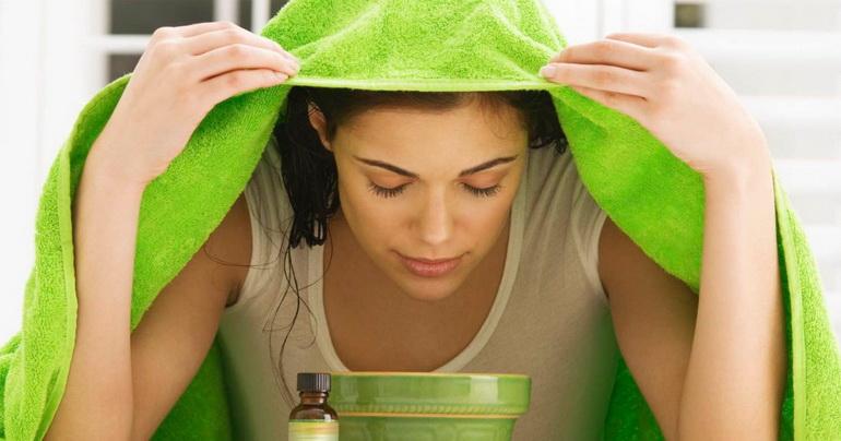 процедура распаривания кожи лица паром