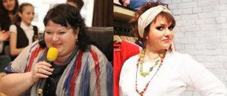 Ольга Картункова до и после похудения