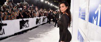 Похудевшая Ким Кардашьян