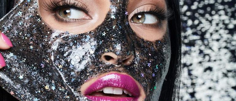 Маска Mixit для лица с блестками